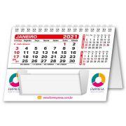Calendário de Mesa com Rascunho 2021 | 10,85x15cm | com Folha de Rosto | Impressão Colorida Frente (Aberto) | M140