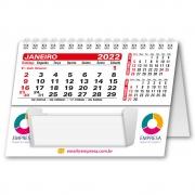 Calendário de Mesa com Rascunho 2022 | 10,85x15cm | com Folha de Rosto | Impressão Colorida Frente (Aberto) | M140