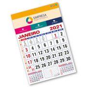Calendário de Parede 2021 | 28,5x42,5cm | Arte Padrão | Impressão Colorida Frente | P101