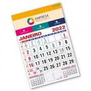 Calendário de Parede 2022 | 28,5x42,5cm | Arte com Aniversários de SC | Impressão Colorida Frente | P100