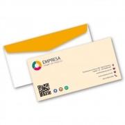 Envelope Ofício | 11,4x22,9cm | Sulfite 75g | Impressão Colorida Frente (Aberto)