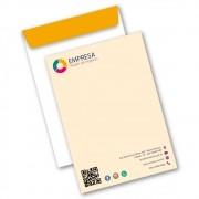 Envelope Saco | 17,6x25cm | Sulfite 90g | Impressão Colorida Frente (Aberto)