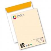 Envelope Saco | 18,5x24,8cm | Sulfite 90g | Impressão Colorida Frente (Aberto)