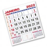 Refil Calendário de Parede 2022 | 28,5x31,5cm | Sulfite 56g | Arte Padrão | Impressão Colorida Frente | P101