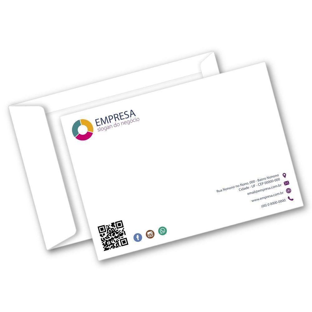 Envelope Saco | 17,6x25cm | Sulfite 90g | Impressão Colorida Frente (Fechado)
