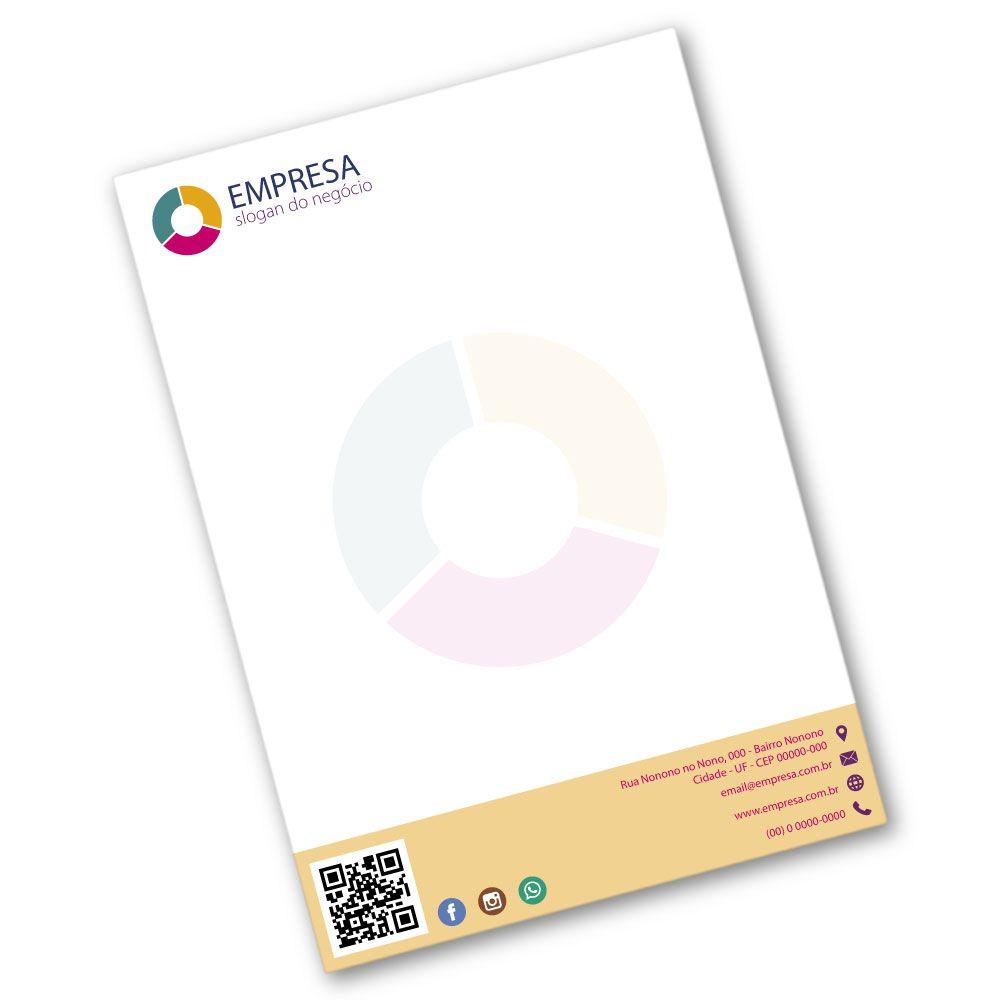 Papel Timbrado A4 | 21x29,7cm | Sulfite 75g | Impressão Colorida Frente