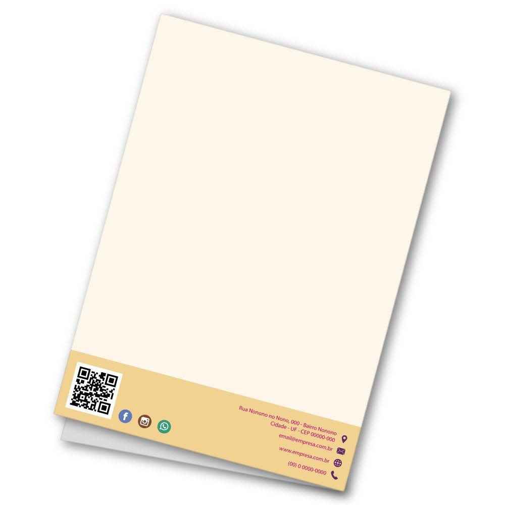 Pasta com Orelha | 31x45cm | Couchê 250g | Impressão Colorida Frente (Aberta)