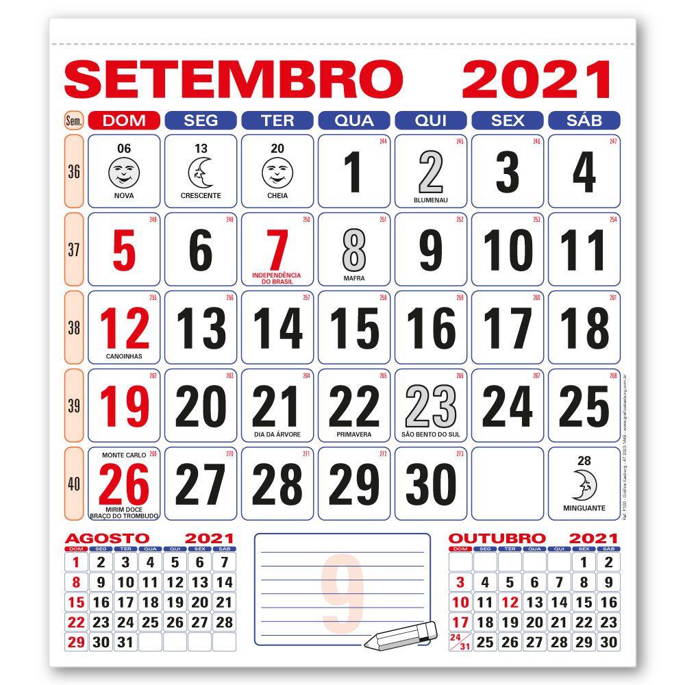 Refil Calendário de Parede 2021 | 28,5x31,5cm | Sulfite 56g | Arte com Aniversários de SC | Impressão Colorida Frente | P100