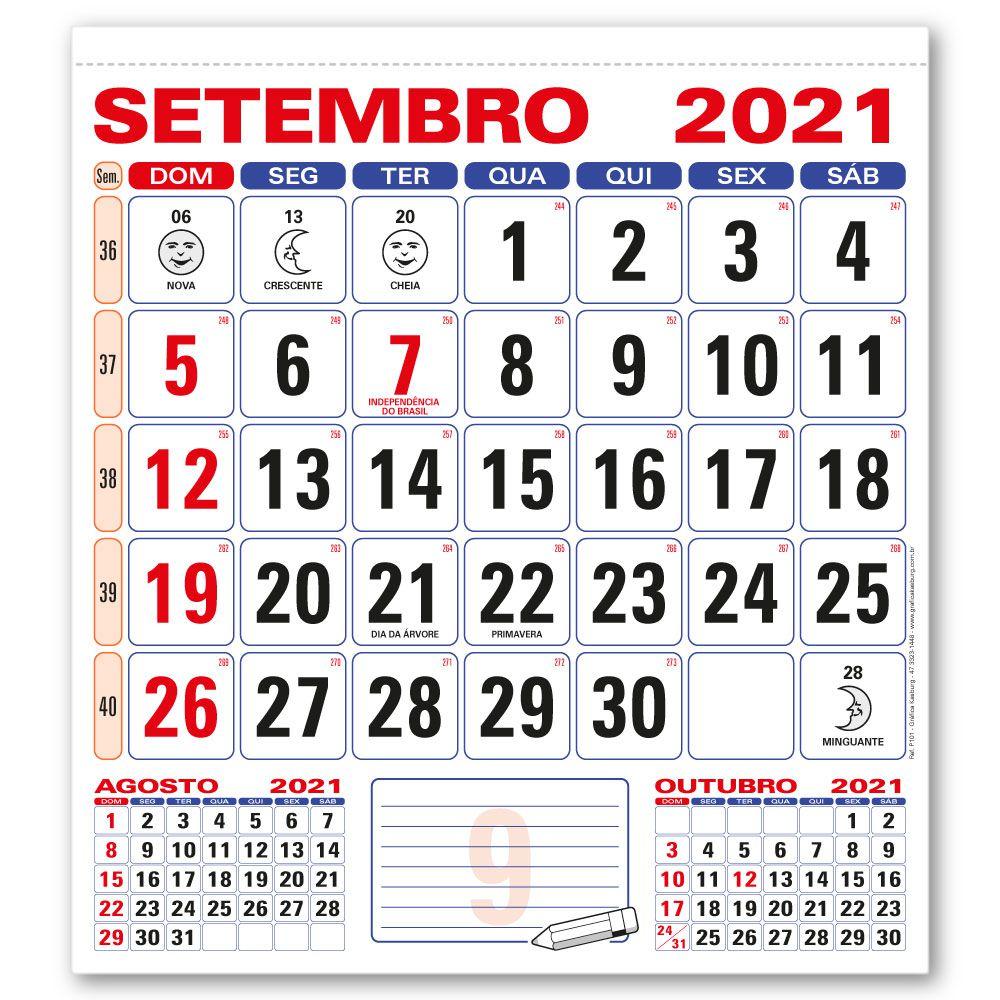 Refil Calendário de Parede 2021 | 28,5x31,5cm | Sulfite 56g | Arte Padrão | Impressão Colorida Frente | P101