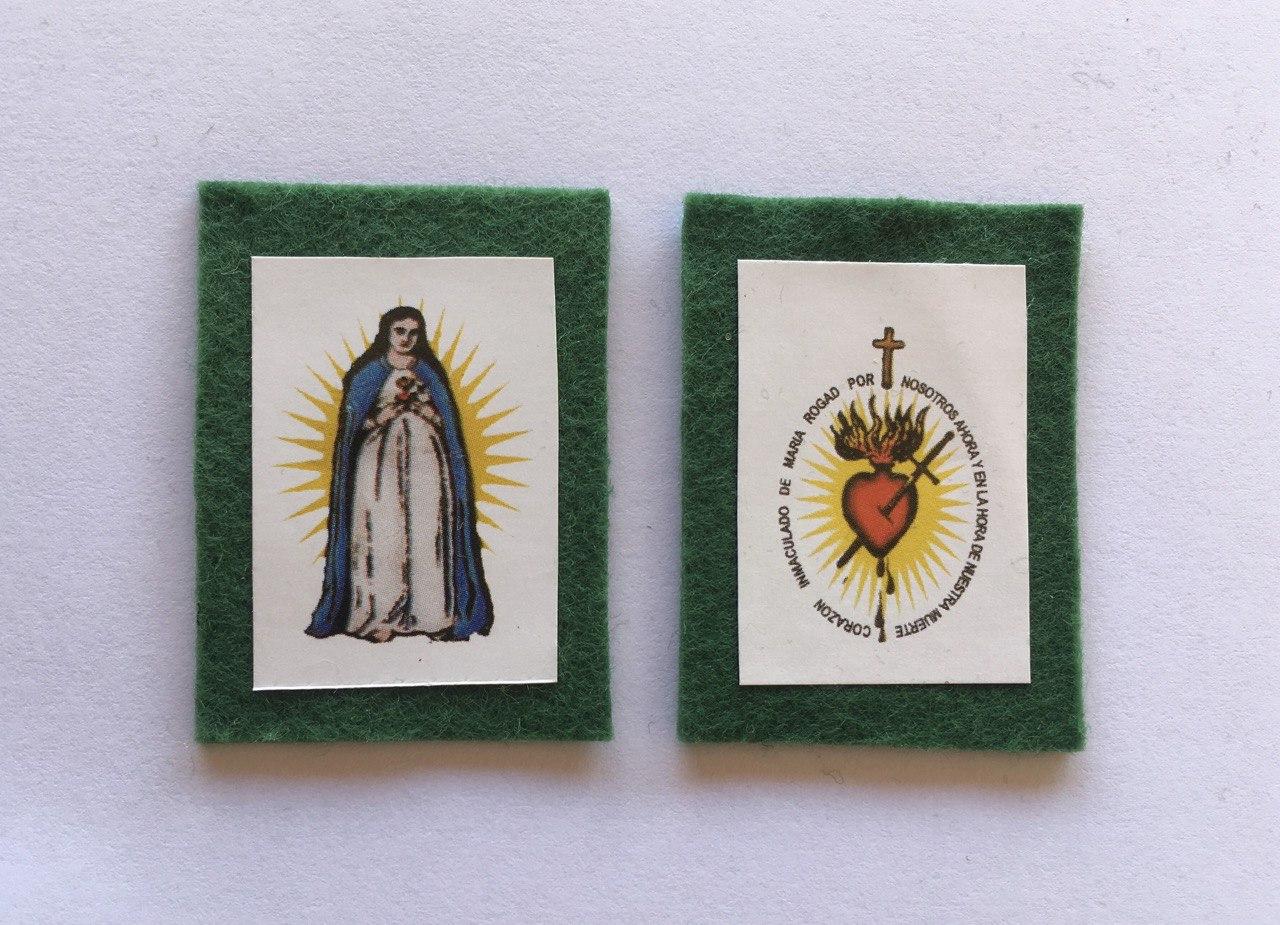 Escapulário verde de Nossa Senhora