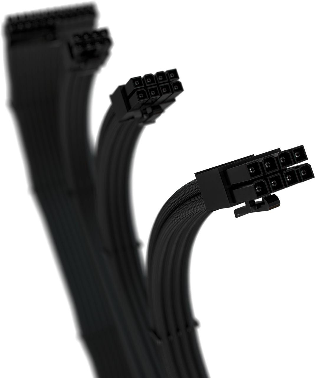 Cabos Sleeved Gamer Rise Mode Kit 4  - Loja Rise Mode