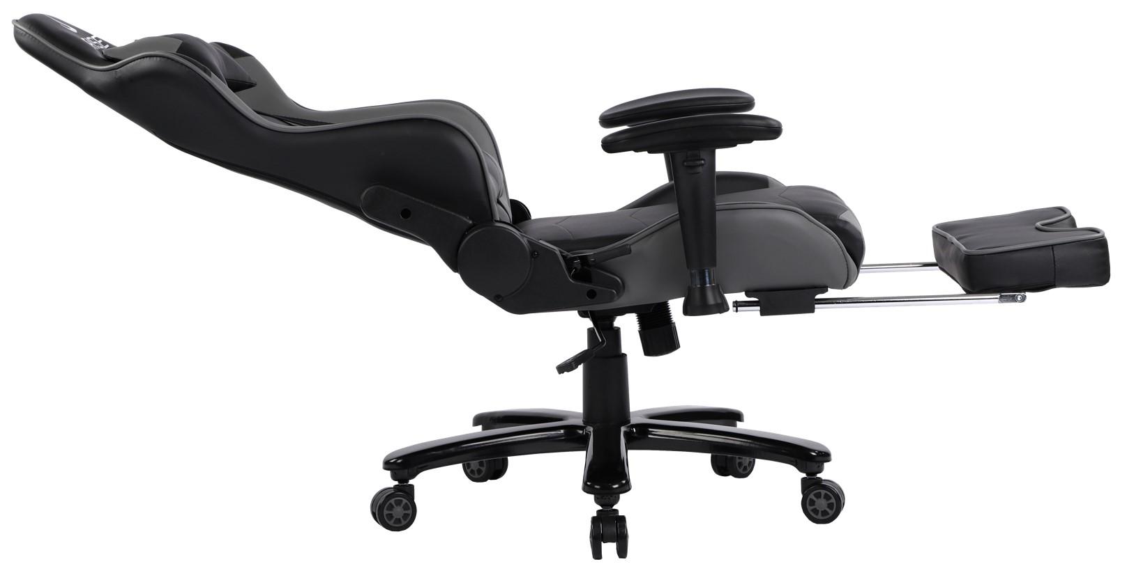 Cadeira Gamer Rise Mode A1 Preto e Cinza Com Massageador