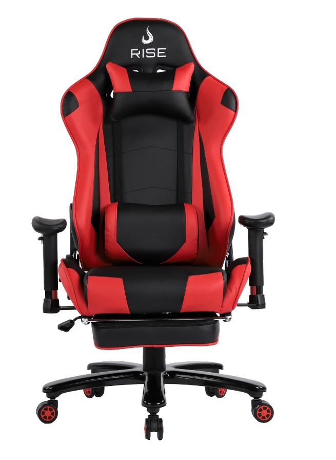 Cadeira Gamer Rise Mode A1 Preto e Vermelho Com Massageador