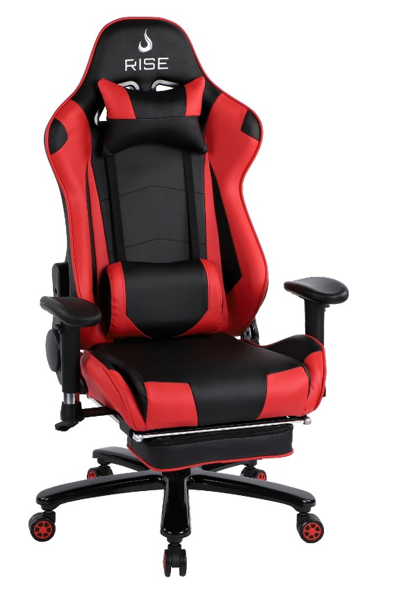 Cadeira Gamer Rise Mode A1 Preto e Vermelho Com Massageador  - Loja Rise Mode