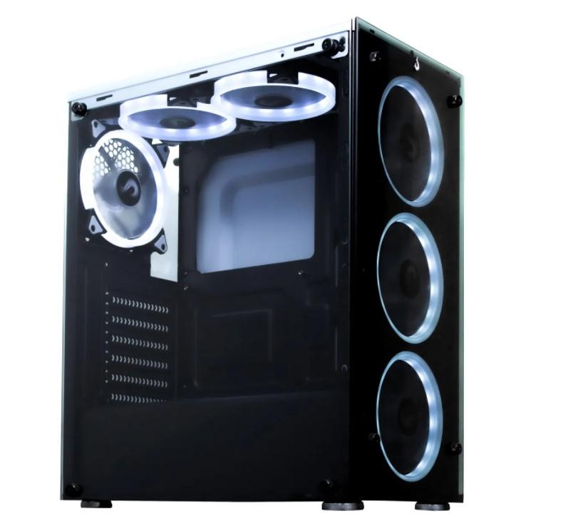Gabinete Rise Mode Glass 06  White Sem Fans  - Loja Rise Mode