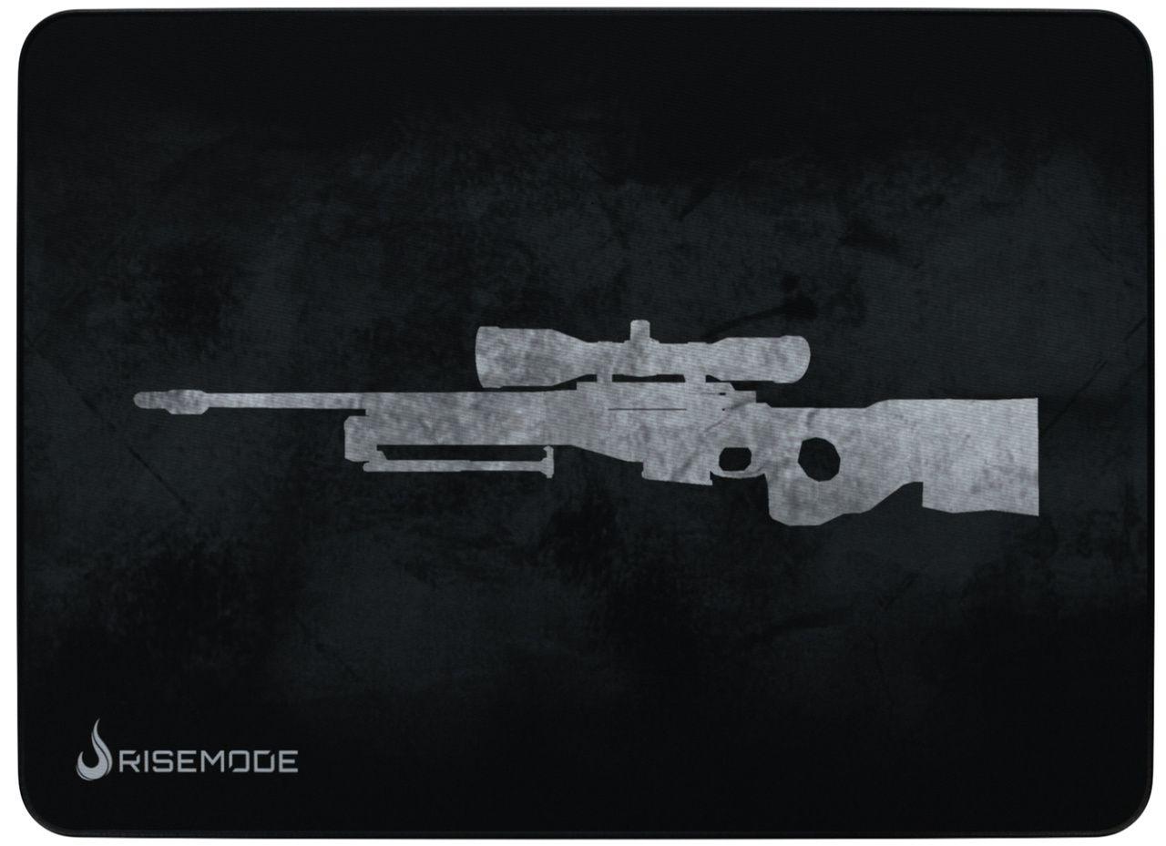 Mousepad Gamer Rise Mode Sniper Grey  - Loja Rise Mode