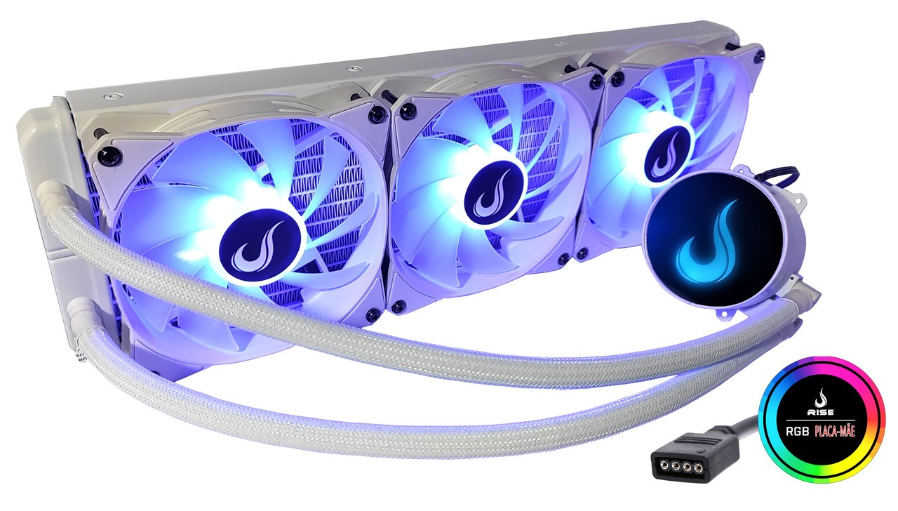 Water Cooler Rise Mode Frost 360mm  - Loja Rise Mode