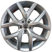 Jogo 4 rodas GT-7 Amarok V6 2018 aro 22 5x120 tala 9 prata ET45