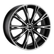 Jogo 4 rodas KR K-70 Audi R8 aro 20 5X100 preto e diamante tala 8 ET40