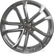 Jogo 4 rodas Maxima BK-641 Camaro 1LE aro 24 furacão 5X120 acabamento hiper prata tala 9,5 ET 45