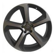 Jogo 4 rodas Presenza PRZ-960 Audi Q5 aro 20 5x112 tala 8,5 ET42 grafite fosco e diamante