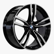 Jogo 4 rodas Raw MC/B07 BMW M4 aro 20 5x120 tala 8 preto e diamante ET37