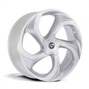 Jogo 4 rodas Volcano Concept aro 20 tala 7,5 furacão 5x112 ET 42 hyper prata