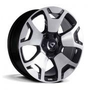 Jogo 4 rodas Volcano Platinum Hilux 2019 aro 20 6X139,7 Preto c/ diamantado tala 8,5 ET34