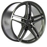Jogo 4 Rodas ZEUS 850 Mercedes AMG GT Roadster aro 20 tala 8,5 furação 5x112 ET45  grafite com diamantado