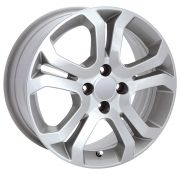 Jogo com 4 rodas KR R-4 Chevrolet Vectra Elegance aro 14 furacão 4x100 prata tala 6