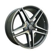 Jogo com 4 rodas Presenza PRZ-1239 Mercedes CLA 45 aro 20 furação 5x112 tala 8,5 ET35 grafite diamantado