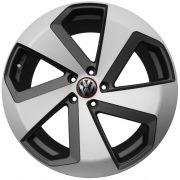 Jogo com 4 rodas Presenza PRZ-05 Golf Gti Concept aro 20 furacão 5X112 acabamento grafite e diamante tala 8
