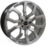Jogo com 4 rodas Presenza R-214 Range Rover Evoque aro 20 furacão 5X120 acabamento hiper prata tala 9,5