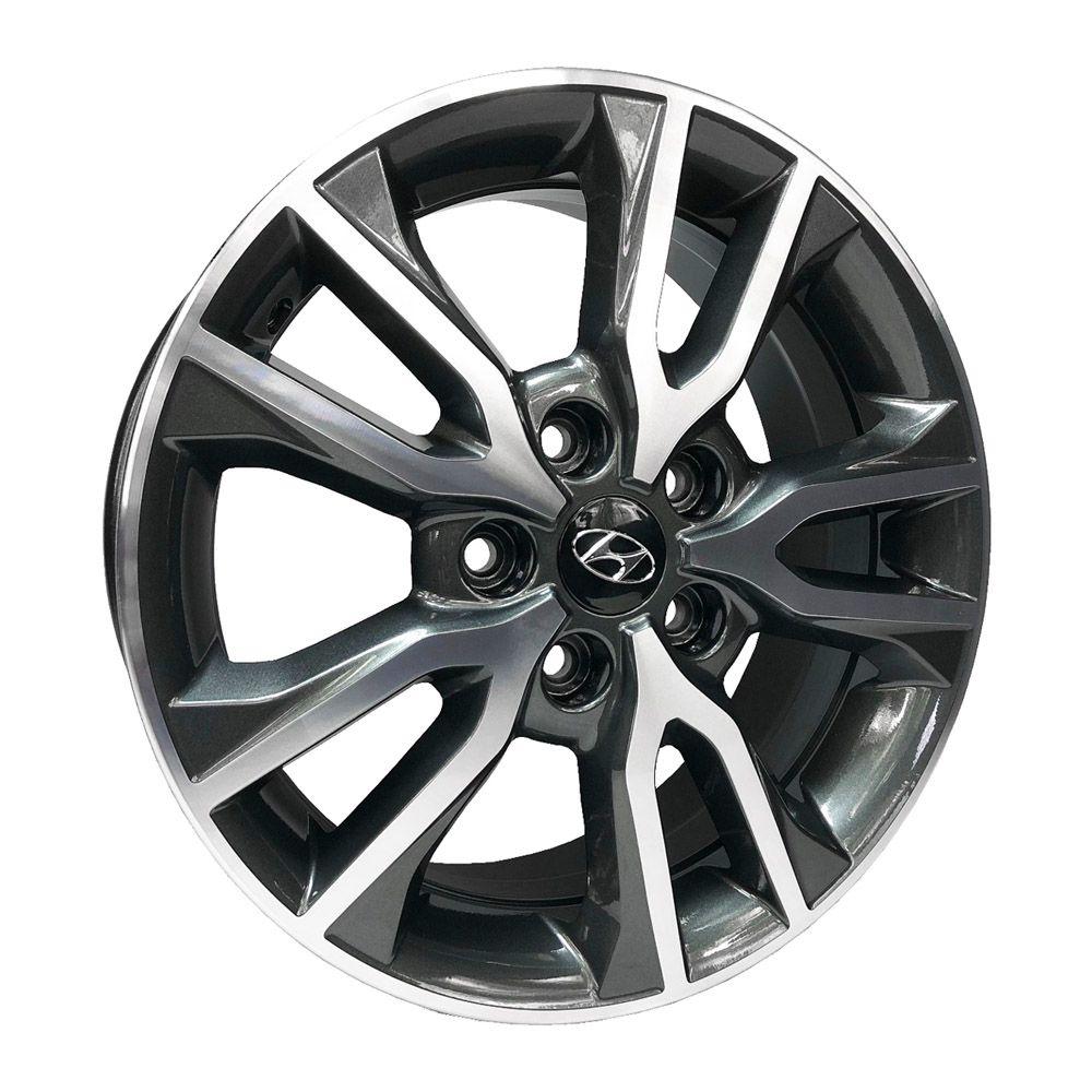 Jogo 4 Rodas KR R-98 Hyundai Creta 2018 aro 16 5x114,3 Grafite e diamante ET43