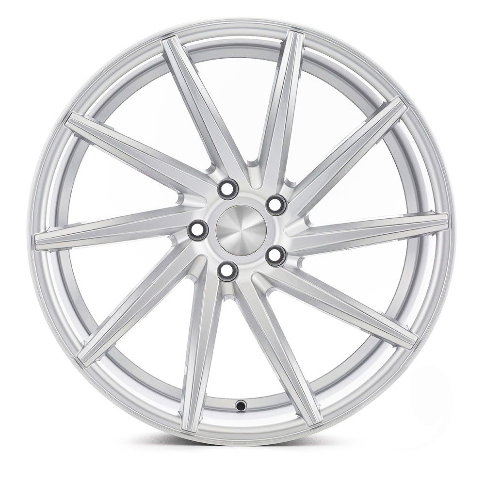 Kit 2 rodas Presenza PRZ-1059 Vossen CVT aro 20 5x112 Dianteira tala 8,5 ET35 E 2 rodas traseiras tala 10 ET40 hiper silver