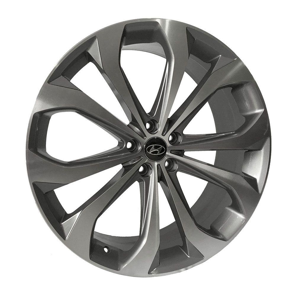 Jogo 4 Rodas Presenza PRZ-1071 Hyundai Sonata aro 22 5x114,3 tala 8,5 Grafite e diamante ET45