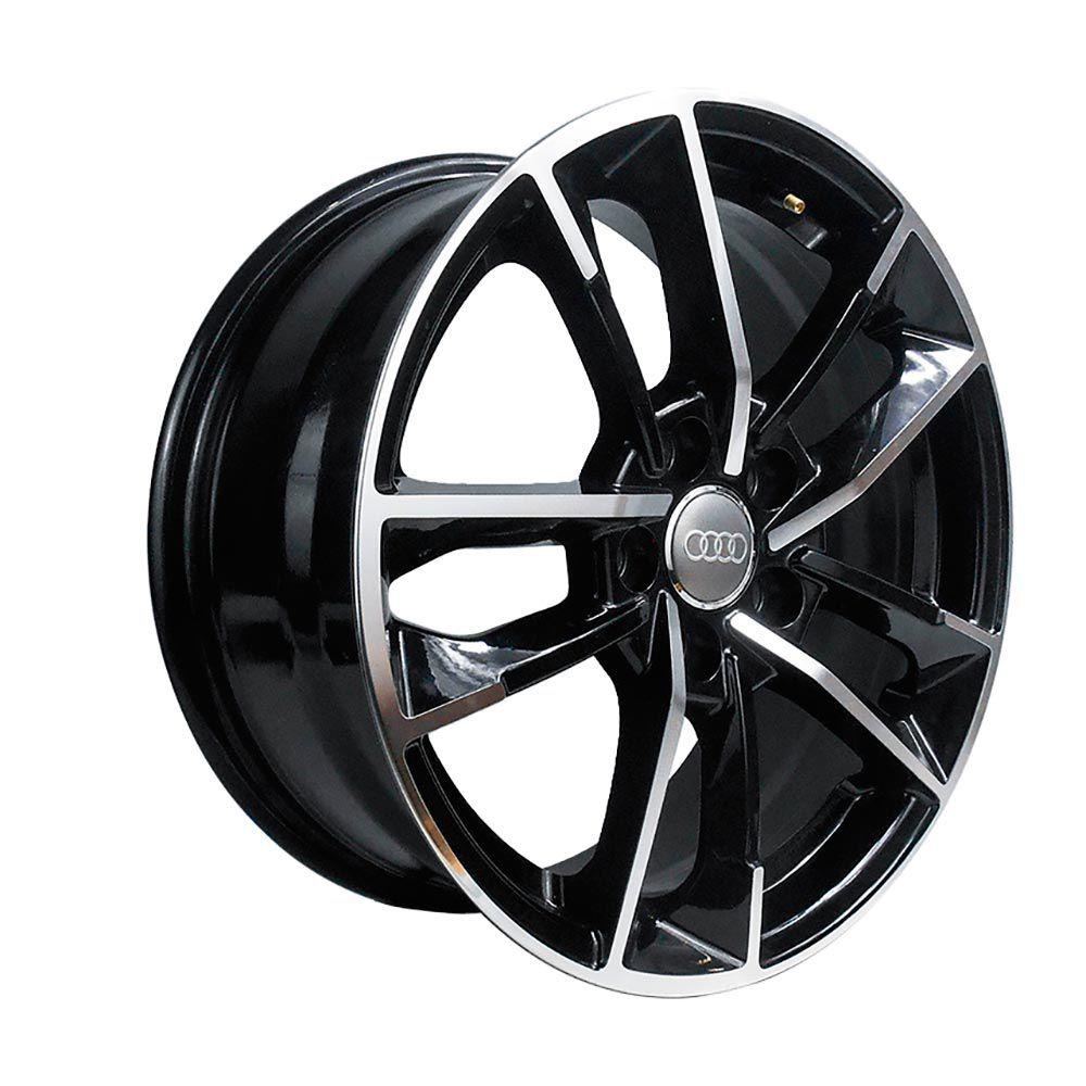 Jogo 4 rodas Raw MC/A07 Audi RS7 Performace aro 20 5x112 tala 8 preto brilhante e diamante ET45