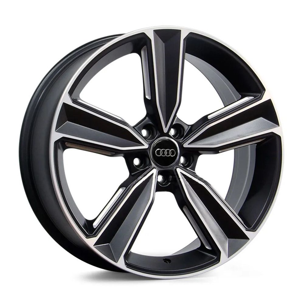 Jogo 4 Rodas Raw MC/A14 Audi RS4 2018 aro 20 5x112 tala 8 preto e diamante ET45