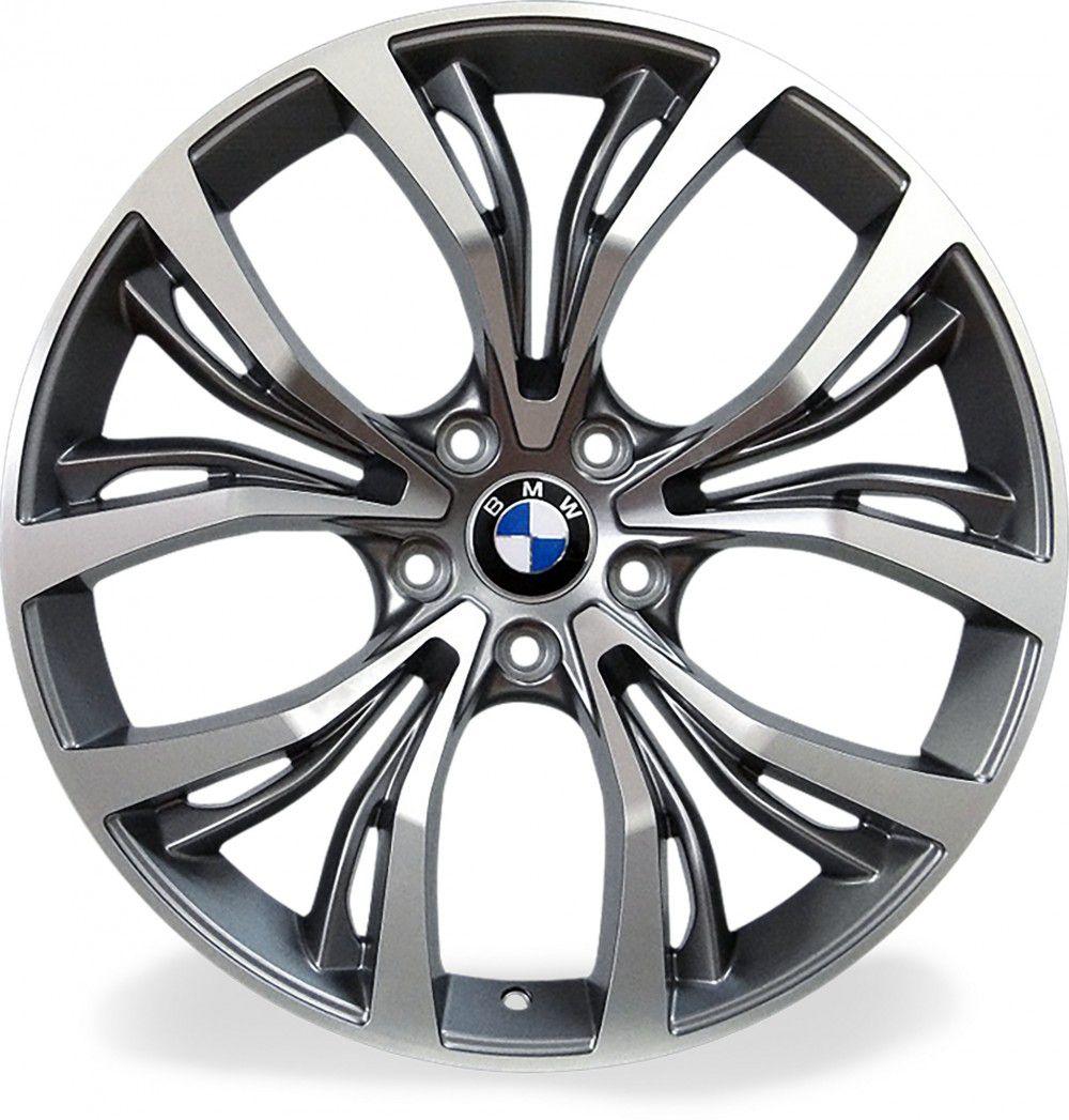 Jogo 4 rodas Raw MC/B03 BMW X4 aro 20 5x120 tala 8,5 preto e diamante ET38
