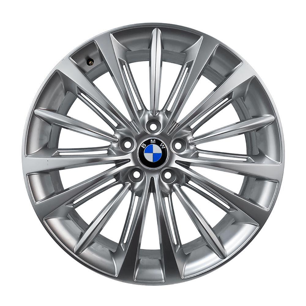 Jogo 4 rodas Raw MC/B04 BMW SERIE 7 aro 20 5x120 com 2 talas tala 8/9 ET38/44 hiper prata