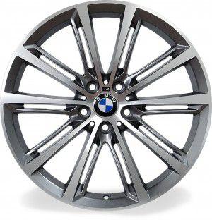 Jogo 4 rodas Raw MC/B05 BMW 535i aro 20 5x120 com 2 talas 8/9 ET38/44 grafite fosco e diamante