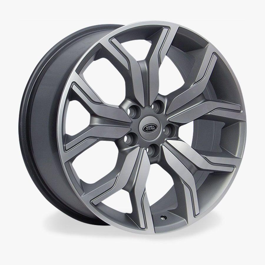 Jogo 4 rodas Raw MC/L01 Range Rover 5x120 aro 22 tala 10 ET45 grafite e diamante