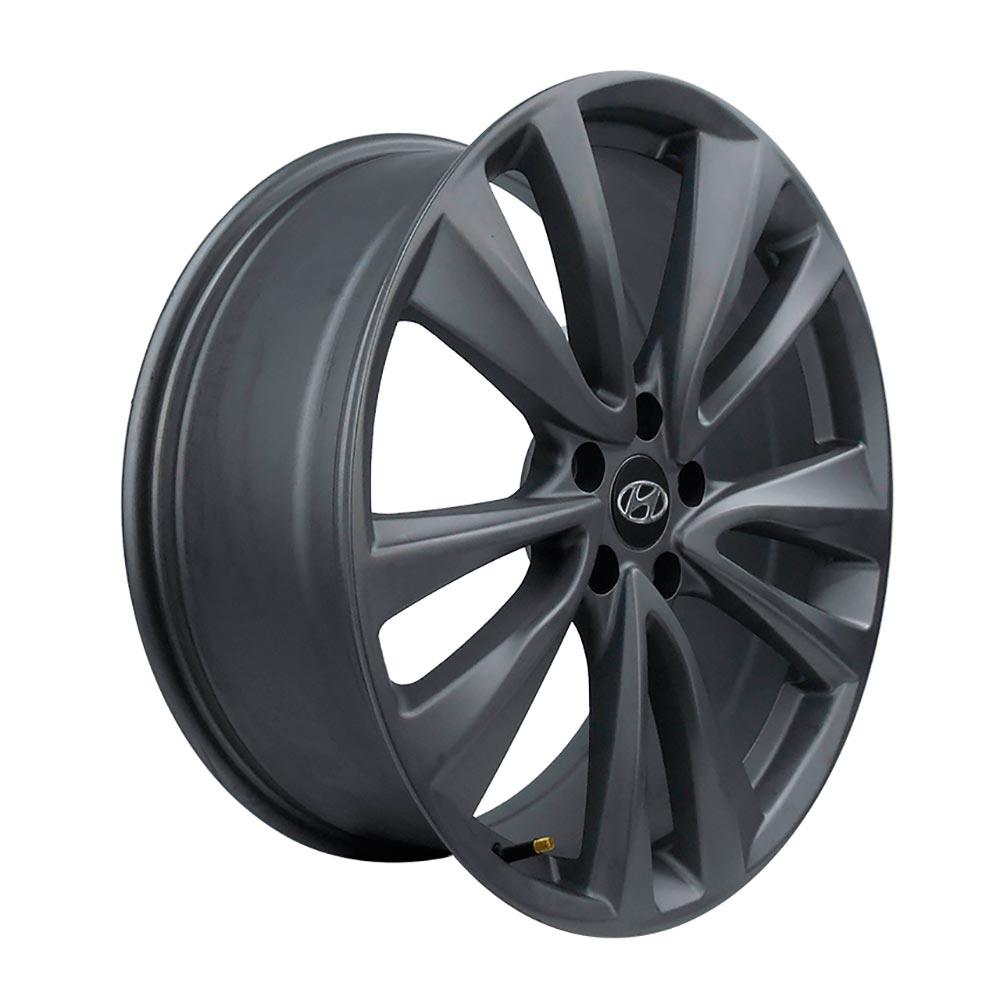 Jogo 4 rodas Raw MC/Y01 HYUNDAI 2015 aro 22 5x114 tala 8 grafite fosco ET42