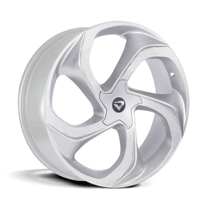 Jogo 4 rodas Volcano Concept aro 20 tala 7,5 furacão 5x100 ET 42 hyper prata