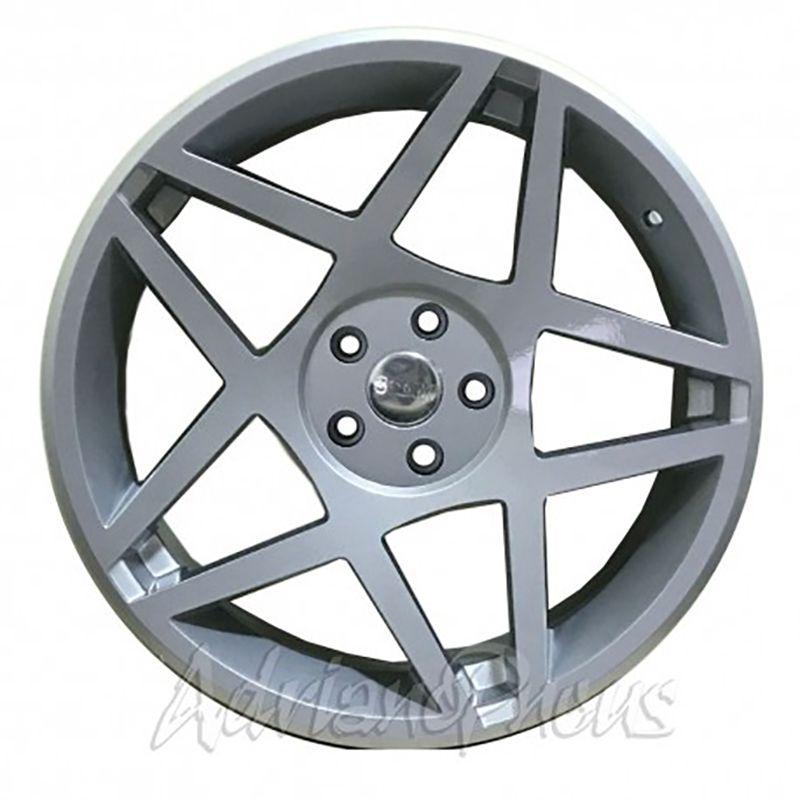 """Jogo com 4 rodas GT7 3SDM aro 20"""" furacão 5x113 acabamento prata tala 8,5"""