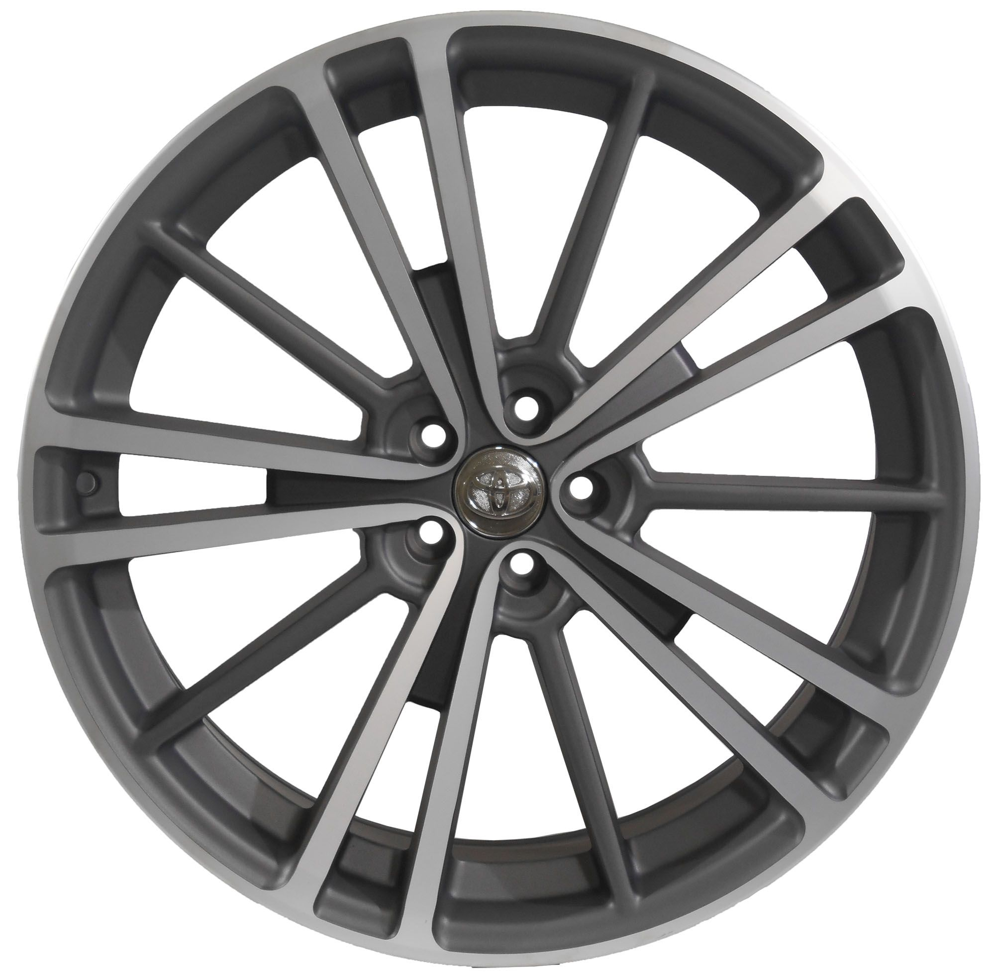 Jogo com 4 rodas GT-7 New corolla aro 20 furacão 5X100 acabamento grafite e diamante tala 8