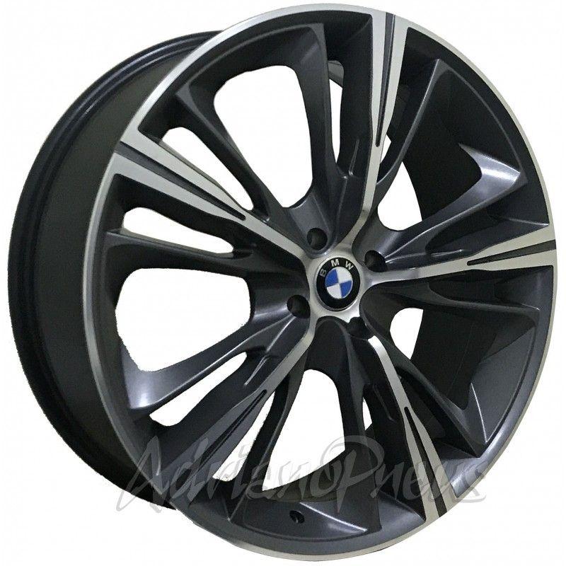 """Jogo com 4 rodas KR R-55 Bmw Serie 4 aro 20"""" furacão 4X100 acabamento grafite e diamante tala 7,5"""