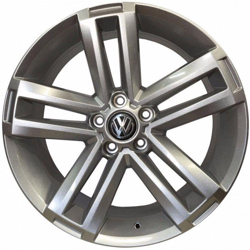 """Jogo com 4 rodas KR R-70 Volkswagen Amarok aro 20"""" furacão 5X100 acabamento hiper gloss tala 7,5"""