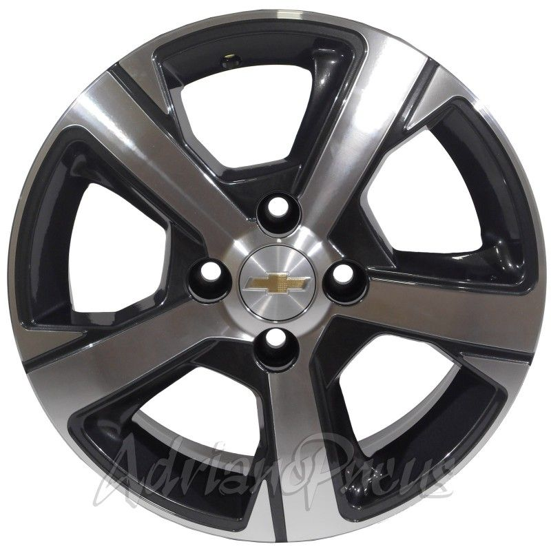 """Jogo com 4 rodas KR R-82 Onix LTZ aro 14"""" furacão 4X100 acabamento grafite e diamante tala 6"""