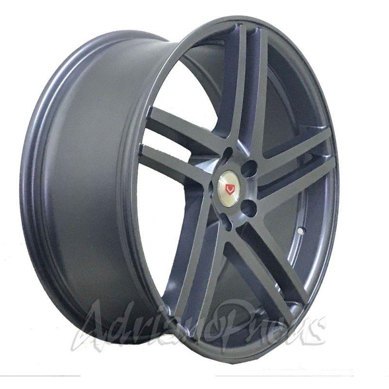 """Jogo com 4 rodas GT7 Vossen V1 U4GRA aro 20"""" furacão 5X112 acabamento grafite tala 8,5"""